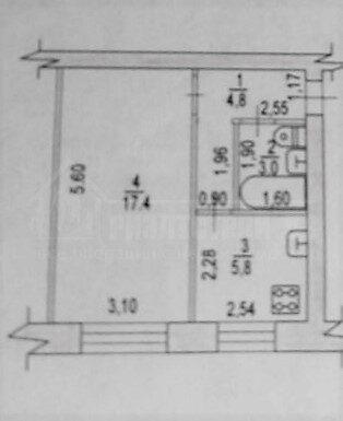 продам 1-ю квартиру в 1-м мкр-не