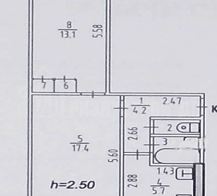 Продам 2-х комнатную близко к центру