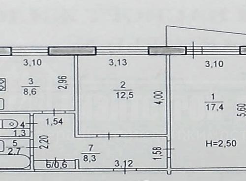 Продам 2-х комнатную квартиру близко к центру (19 школа)