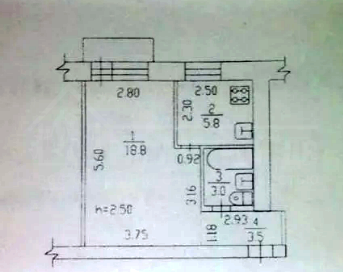 Продам 1-ю квартиру в центре
