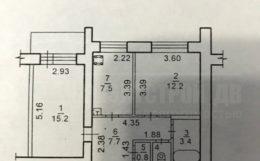Продаю 2-х комнатную квартиру в центре города.